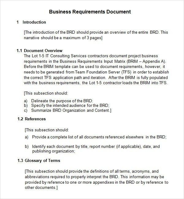 Sample Business Requirements Document – 6+ Free Documents In Pdf ...