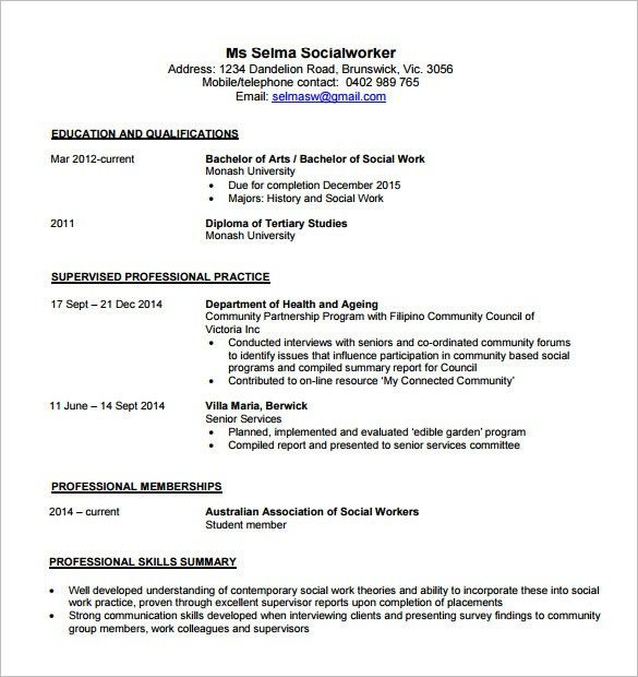 contemporary resume template 4 free word excel pdf format - Contemporary Resume Template