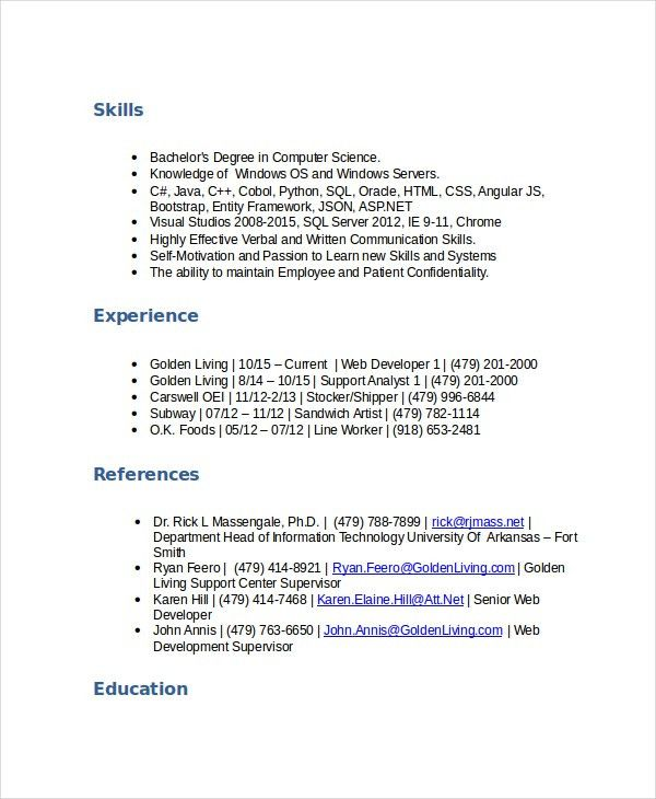 Stocker Resume Template - 5+ Free Word, PDF Documents Download ...