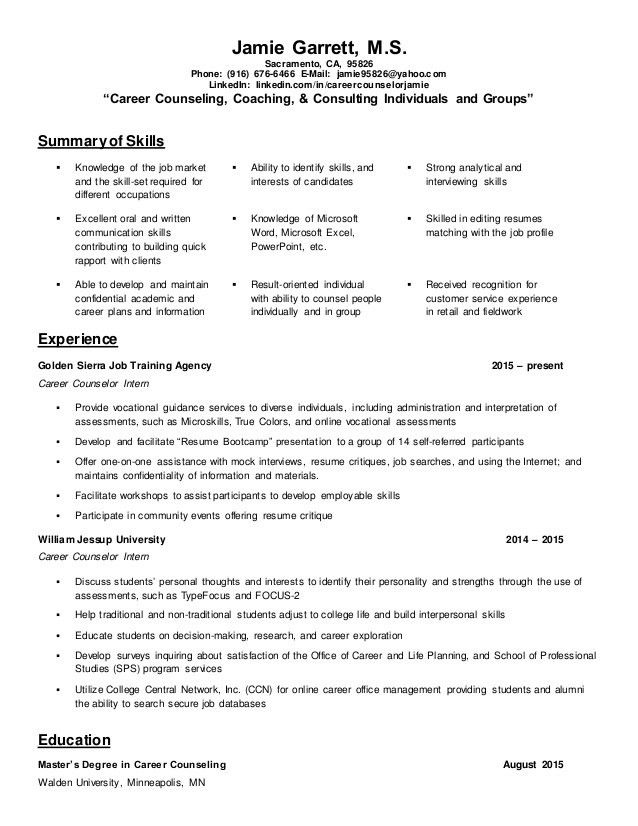Chic Idea Counseling Resume 15 Sample Psychologist - Resume Example