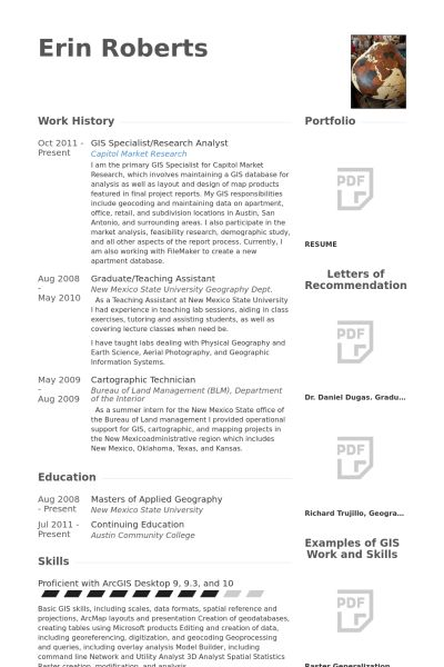 Gis Technician Resume] Gis Technician Resume Samples Visualcv