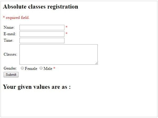 PHP Validation Example