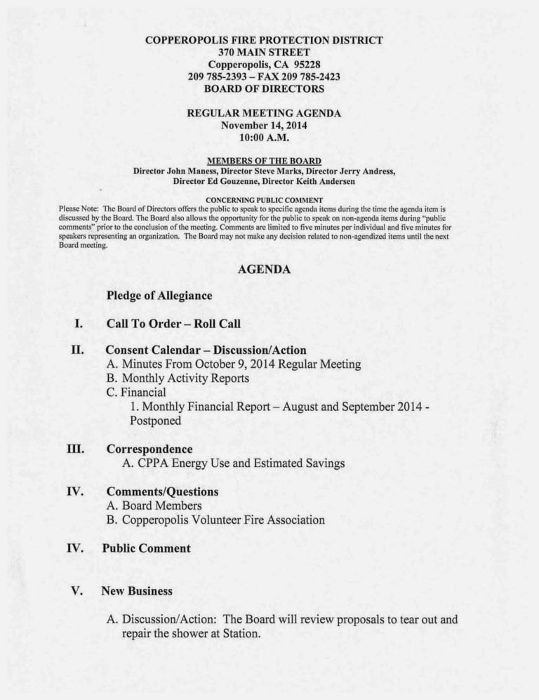 Board Meeting Agenda Template. Nonprofit Board Meeting Agenda ...