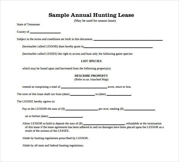 42 Rental Application Forms & Lease Agreement Templates. 11+ ...