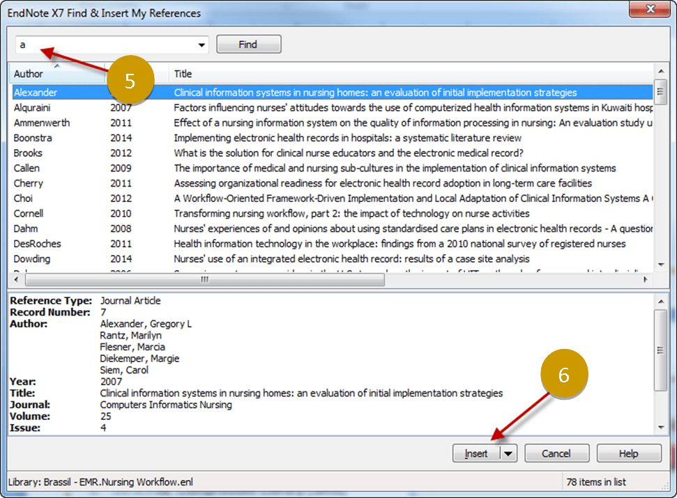 Insert & Delete References in Word - EndNote X7 - Research Guides ...