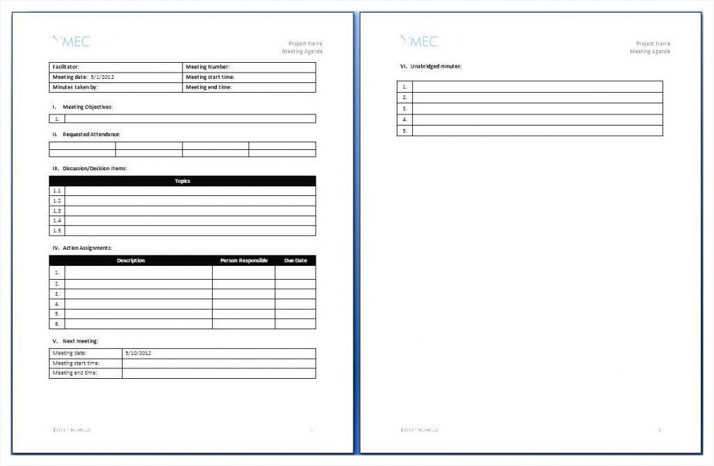 Microsoft Word Agenda Templates, ms word meeting minutes template ...