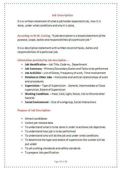 Risk Management Job Description. Element – 2-Action Plans ...