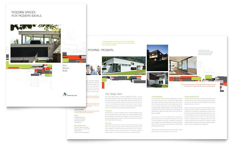 Architectural Design Brochure Template - Word & Publisher