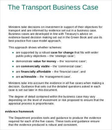 Business Case Template - 10+ Free Word, PDF Documents Download ...