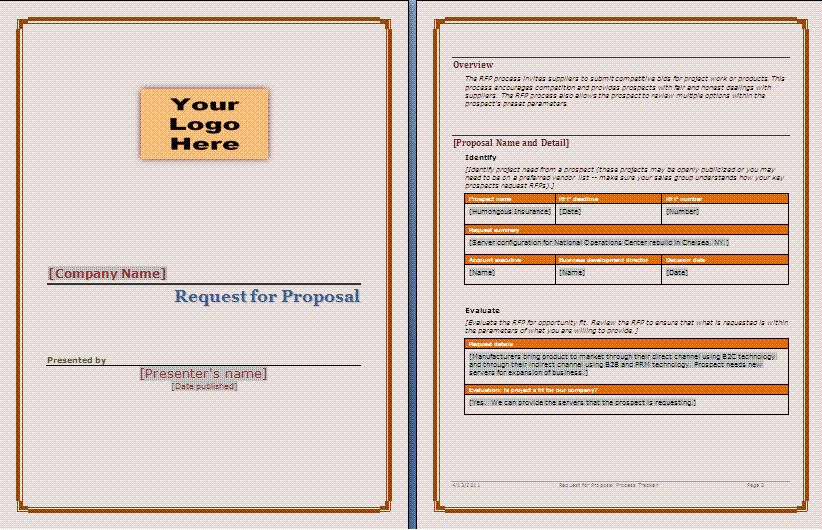 8+ microsoft word proposal template | Procedure Template Sample