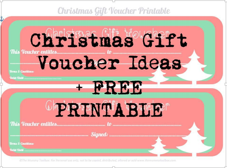 Free Printable Christmas Gift Vouchers | The Mummy Toolbox