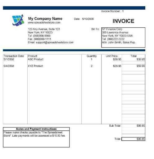 Invoice Template Excel 2007 | printable invoice template