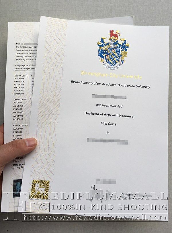 want to buy Birmingham City University fake degree with transcript ...