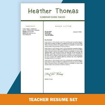 Teacher Resume Template, Educator Resume, Free CV Word Template ...