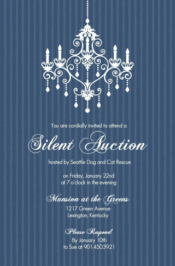 Fundraiser Invitation Template | Best Template Collection
