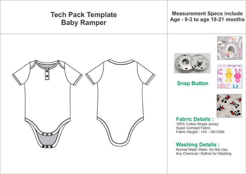 Tech Pack Template Baby Romper