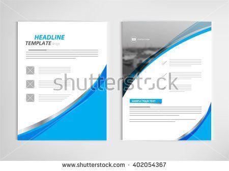Annual Report Template Design Book Cover Stock Vector 402052885 ...