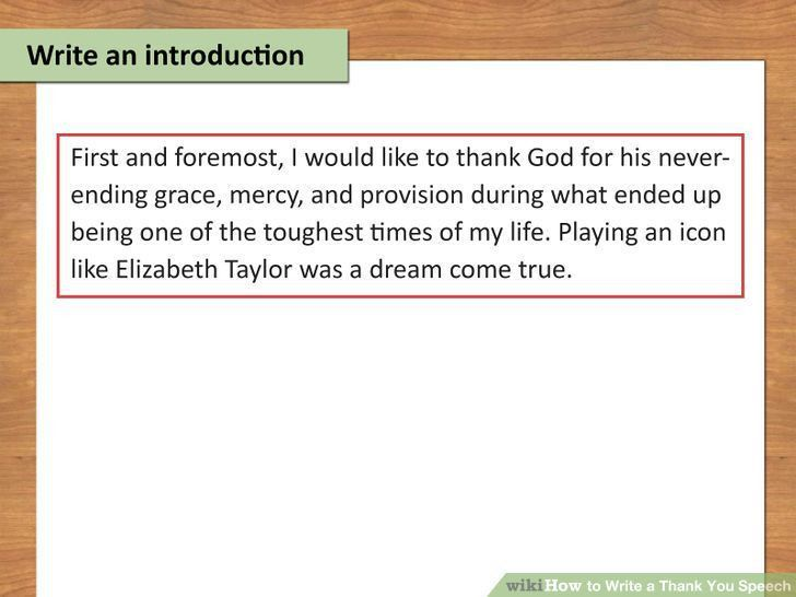 Example introduction speech about someone else | Grade 5 book ...