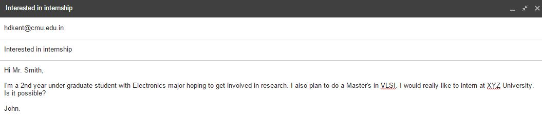 The Art of Emailing Professors abroad to secure an Internship.