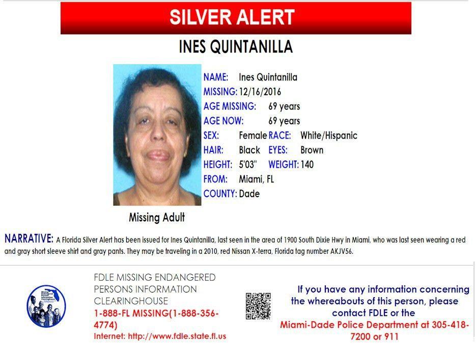 Ines Quintanilla – Miami, Fl : Missing People Help