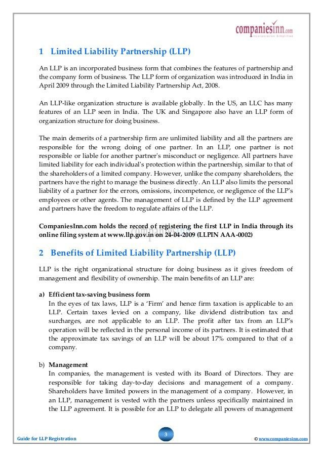 Guide for Limited Liability Partnership (LLP) Registration