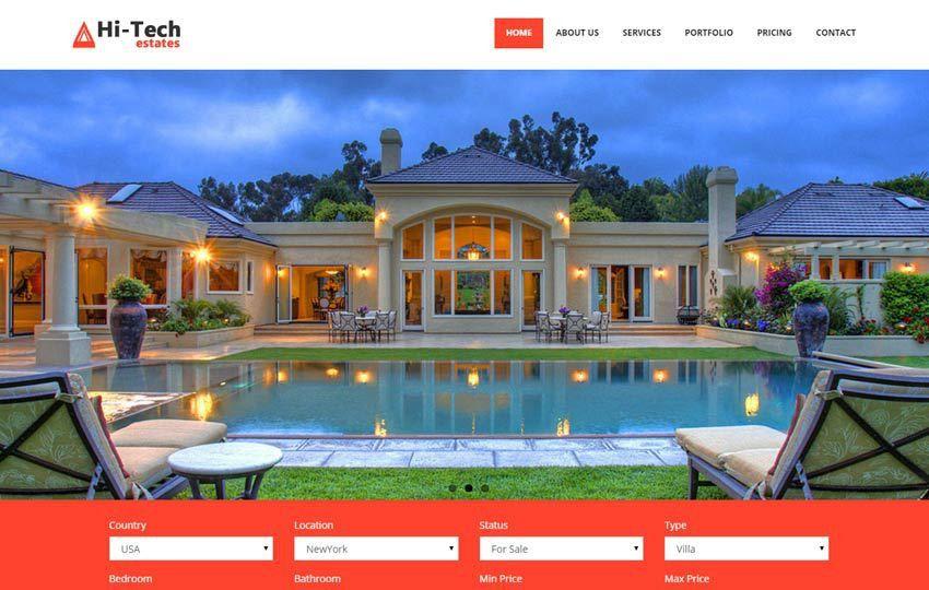 Real Estate Free Bootstrap Website Template - WebThemez