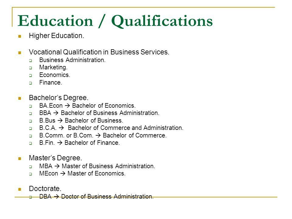 How To Write Educational Qualification In Cv Sample Resume ...