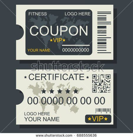 Black White Gift Voucher Coupon Discount Stock Vector 546698350 ...