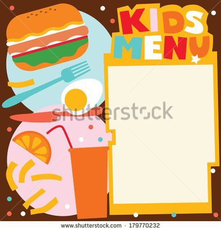 Children Menu Stock Images, Royalty-Free Images & Vectors ...