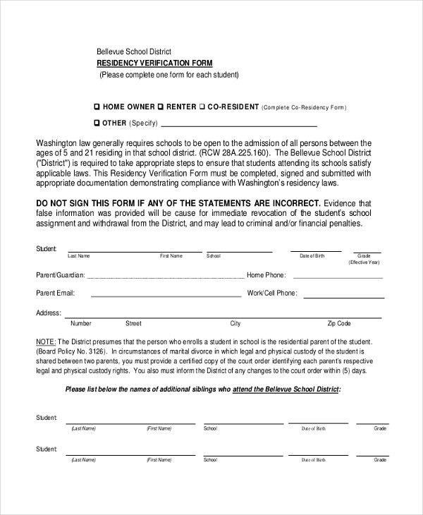 Sample Affidavit of Residency Form - 9+ Sample Documents in PDF,