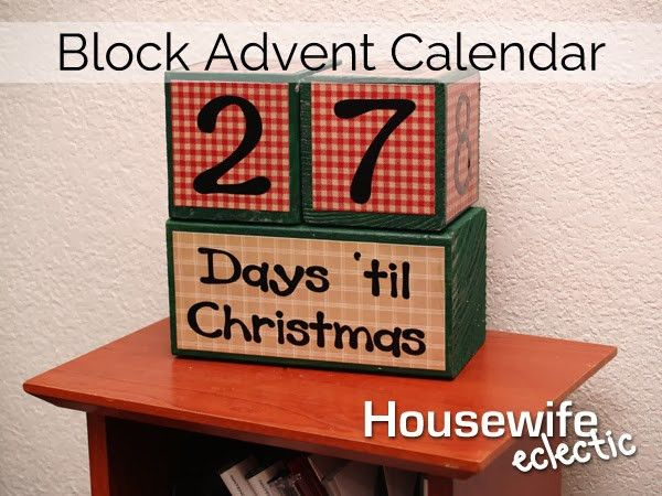 Tutorial- Block Christmas Advent Calendar - Housewife Eclectic