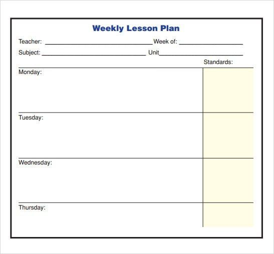 Sample Lesson Plan - 9+ Documents In PDF, Word