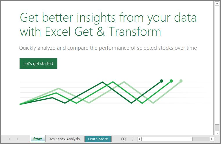 Learn how to use the Stock Analysis template with Excel 2016 ...