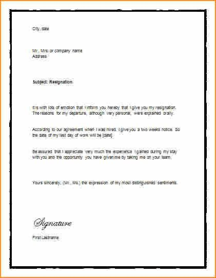 5+ 2 weeks notice job template - Basic Job Appication Letter