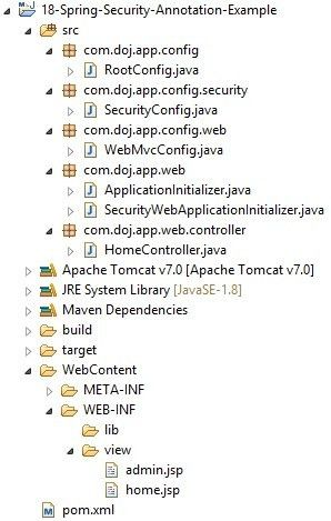 Spring Security Annotation Based Hello World Example - Dinesh on Java