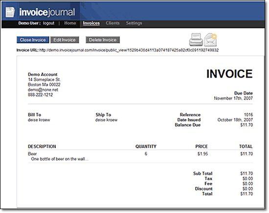 Online Invoice Service   printable invoice template