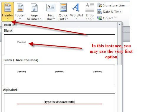 APA Running Header - MS Word 2010 - APA Style Guide - Lightning ...