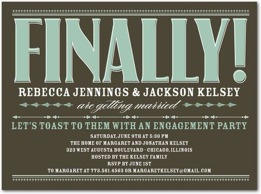 Engagement Party Invitations Ideas — All Invitations Ideas