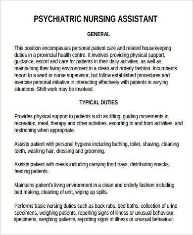 Sample Nursing Assistant Job Description - 9+ Examples in PDF, Word