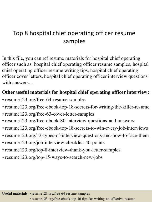 Download Hospital Administration Sample Resume ...