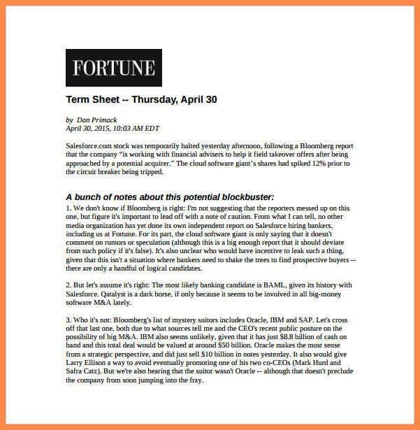 term sheet example | resume name