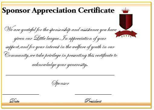 12 Elegant Certificates of Appreciation for Sponsorship : Free ...