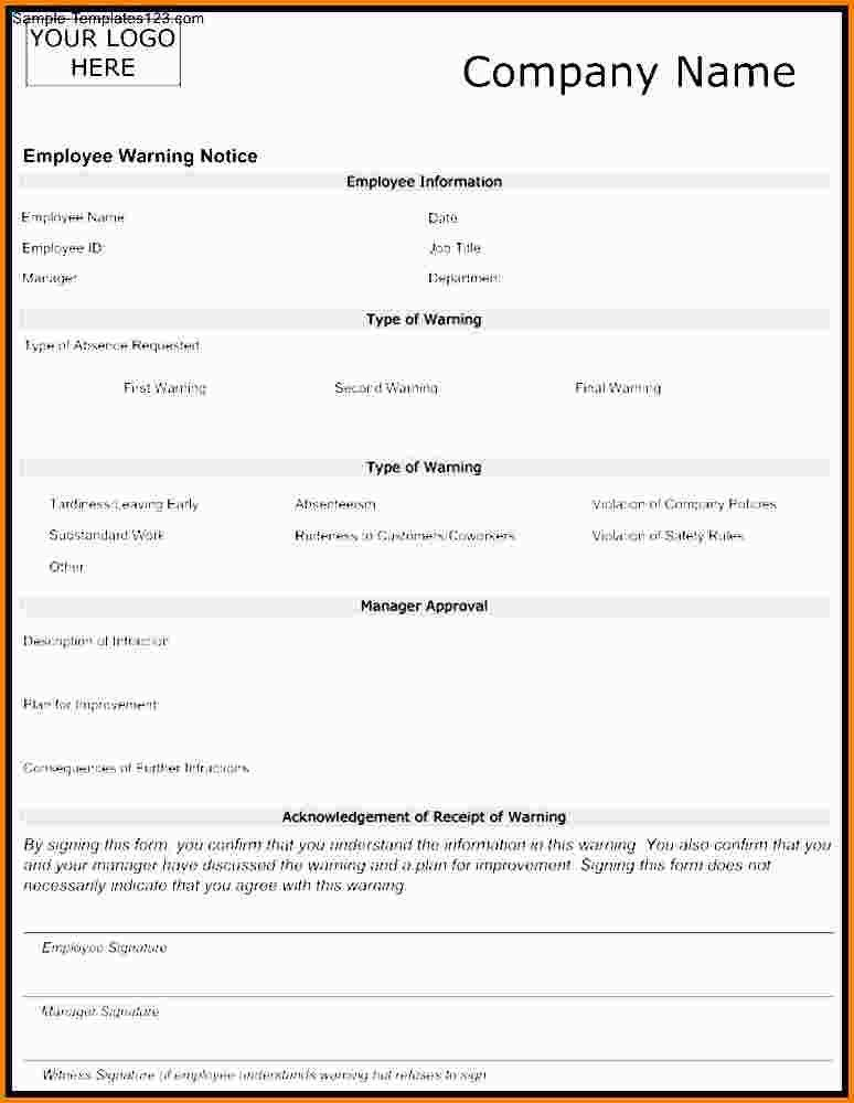 8+ employee warning notice template | nypd resume