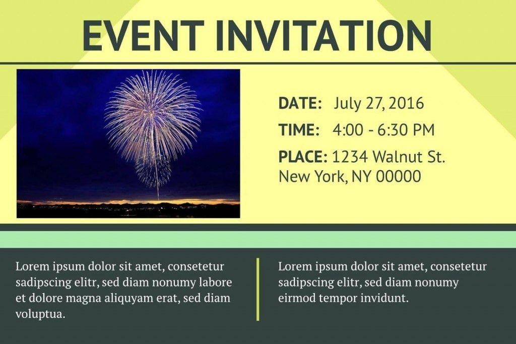 Free Event Invitation Templates | Samples.csat.co