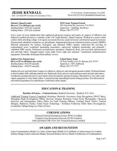 Military Veteran Resume Examples. Sample Resume Usa Resume Cv ...