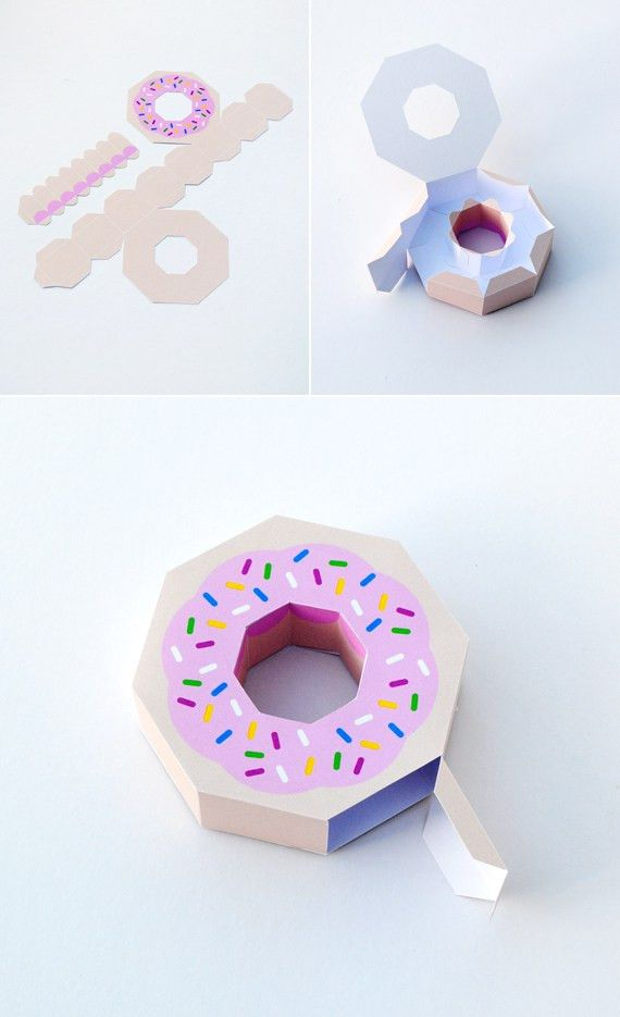 Giftwrap // Paper Donut! | Donuts, Candy boxes and Free printable
