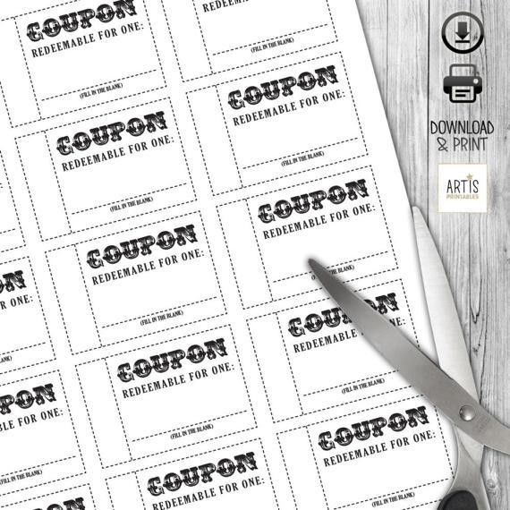 Coupon Book Coupon for game Empty Love Coupon Date DIY