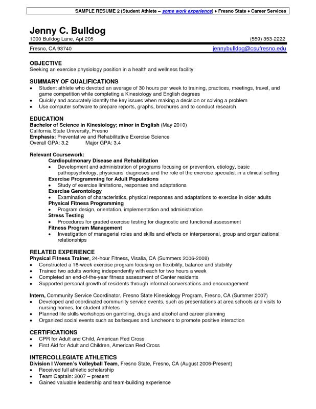coach resume example sample great resumes for high school students ...