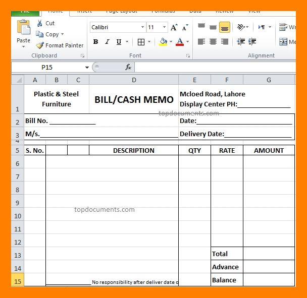 11+ cash memo bill format in word   example of memo
