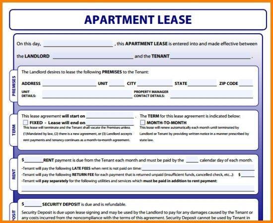 Apartment Lease Template   trxtrainingequipment.com